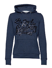 THE REAL TONAL SEQUIN ENTRY HOOD - RUGGED NAVY