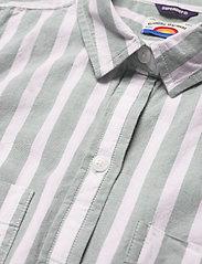 Superdry - SLEEVELESS SHIRT - sleeveless blouses - mint stripe - 2