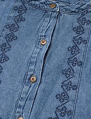 Superdry - GRANDAD BLOUSE - short-sleeved blouses - chambray - 2
