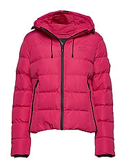 SPIRIT PUFFER ICON JACKET - ROSE RED