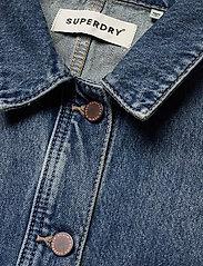 Superdry - WORKER JACKET - denim jackets - denim indigo dark mid - 2