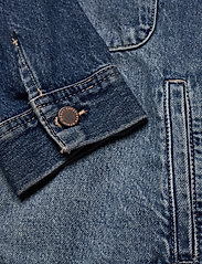 Superdry - WORKER JACKET - denim jackets - denim indigo dark mid - 3