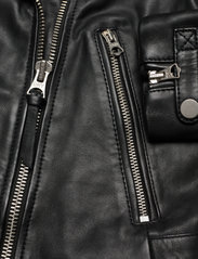 Superdry - CLASSIC LEATHER BIKER - skinnjackor - black - 4