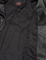 Superdry - CLASSIC LEATHER BIKER - skinnjackor - black - 5