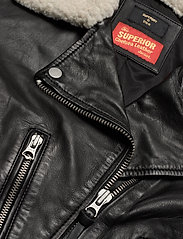 Superdry - Aviator Leather Biker - skinnjackor - black - 5
