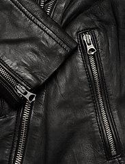Superdry - Aviator Leather Biker - skinnjackor - black - 6