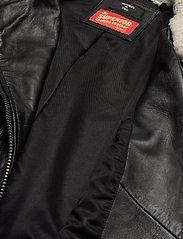 Superdry - Aviator Leather Biker - skinnjackor - black - 7