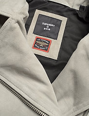 Superdry - CLASSIC SUEDE BIKER - leather jackets - stone - 2