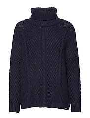 TORI CABLE CAPE KNIT - RINSE NAVY
