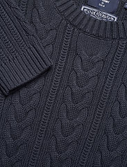 Superdry - DROPPED SHOULDER CABLE CREW - jumpers - eclipse navy - 2