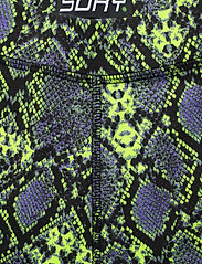 Superdry - DESERT BIKE SHORT - cycling shorts - neon snake print - 2