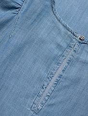 Superdry - TENCEL TSHIRT DRESS - midi dresses - light wash - 3