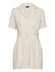 WIDE LEG PLAYSUIT - OYSTER