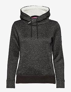 SUPERDRY STORM HOOD - hoodies - black gritty marl