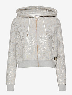 ACE METALLIC ZIPHOOD - DAWN GREY MARL