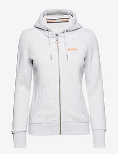 ORANGE LABEL ZIPHOOD - hettegensere - ice marl