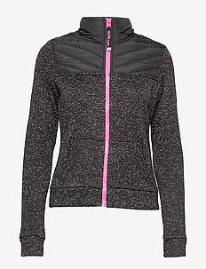 STORM HYBRID TRACK TOP - DEEP CHARCOAL MARL