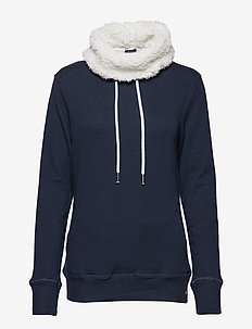 ZINNIA SHERPA FUNNEL SWEAT - sweatshirts - nightsky navy rugged
