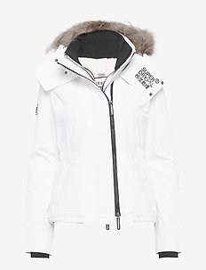 HOODED FUR WINTER WINDATTACKER - WHITE