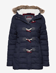 TALL MARL TOGGLE PUFFLE JACKET - ECLIPSE NAVY