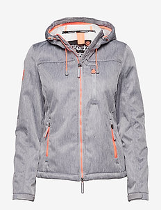 HOODED SHERPA WINDTREKKER - light jackets - light grey marl/ecru