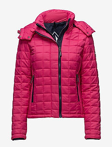 HOODED BOX QUILT FUJI JACKET - quilted jackets - sport code pink