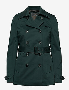WINTER BELLE TRENCH - trenchcoats - super dark teal