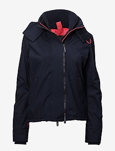 POP ZIP HOOD ARCTIC WNDCHEATER - nautical navy/lurex coral blush