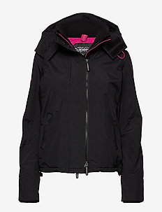 POP ZIP HOOD ARCTIC WNDCHEATER - BLACK/RASPBERRY