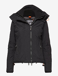 HOODED SHERPA QUILTED WINDCHEATER - padded jackets - black