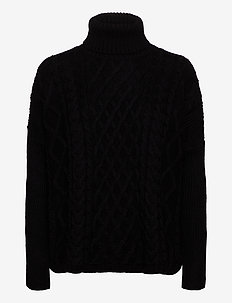 CABLE CAPE JUMPER - poolopaidat - black