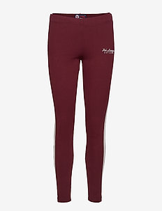 TRI LEAGUE GRAPHIC LEGGING - TRI BURGUNDY