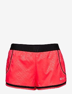 SUPERDRY SPORT MESH INSERT SHORT - treenishortsit - shocking red sd sport