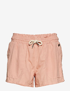 LINEN UTILITY SHORT - SANDY ROSE