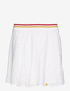 TEAGAN SCHIFFLI SKIRT - WHITE