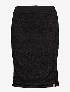 BLAKE LACE MIDI SKIRT - BLACK LACE