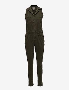 UTILITY JUMPSUIT - jumpsuits - khaki