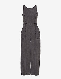 INGRID CULOTTE JUMPSUIT - jumpsuits - acid wash black