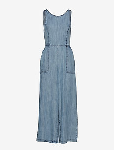 INGRID CULOTTE JUMPSUIT - ACID WASH BLUE