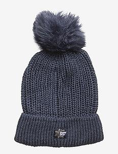 ARIES SPARKLE FUR BOBBLE HAT - kapelusze - navy