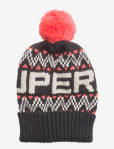 SUPERDRY CHEVRON BEANIE - NAVY