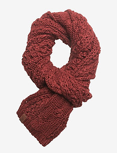 NORTH CABLE SCARF - scarves - dark rust