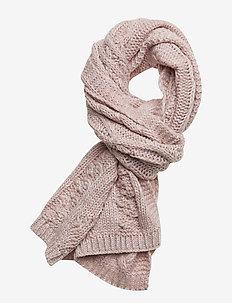 ARIZONA CABLE SCARF - scarves - sandy pink twist