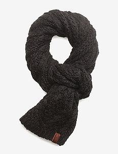 NEBRASKA CABLE SCARF - scarves - black