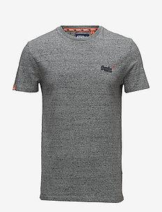 ORANGE LABEL VNTGE EMB S/S TEE - basic t-shirts - flint steel grit