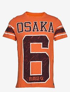 OSAKA 6 QUARTER BACK TEE - t-skjorter med trykk - frontier orange