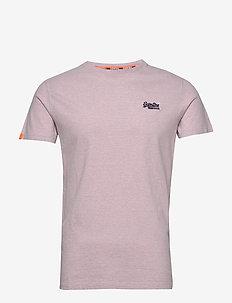 OL VINTAGE EMB CREW - basic t-shirts - chalk pink feeder