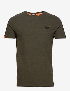 OL VINTAGE EMB CREW - t-shirts basiques - desert olive space dye