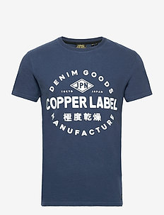 COPPER LABEL TEE - short-sleeved t-shirts - lauren navy