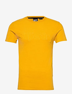 CORE FAUX SUEDE TEE - basic t-shirts - upstate gold